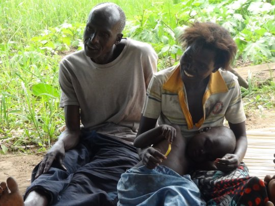 Auma Lillian with her family