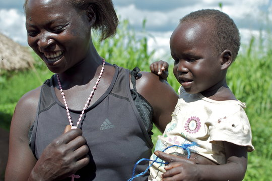 Molly, an HIV positive woman, and her healthy baby