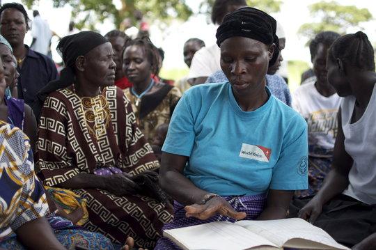 Zainabu, HIV+ mother and treasurer of her VSLA
