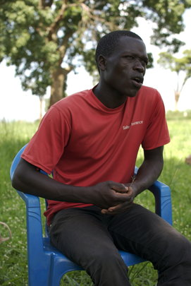 Bosco, the Secretary of Palema Youth Group