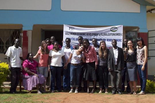 GROW interns with GWED-G staff