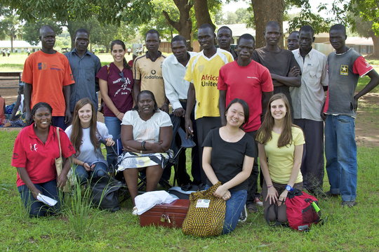 GROW interns with the Palema Youth Group