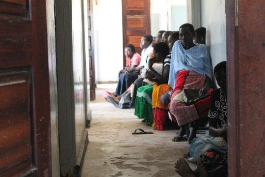 Awaiting Antenatal Care at Kaladima Health Center