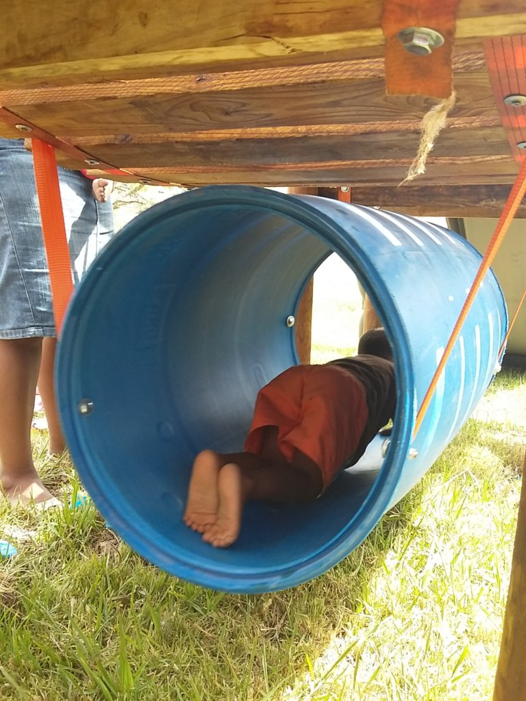 Our kids took the barrel like fishes to water