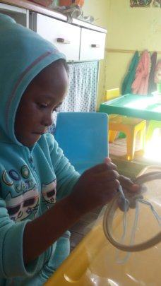 Sewing lessons for little hands!
