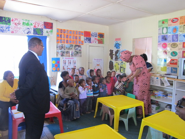 Mayor and MEC Majodina visiting Ibhabhathane