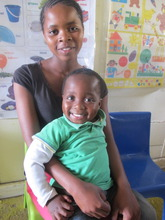 Patricia and her cute as a button Thobelani