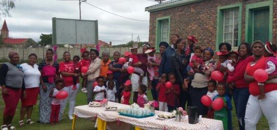 Parents and children loving their Valentine's Tea