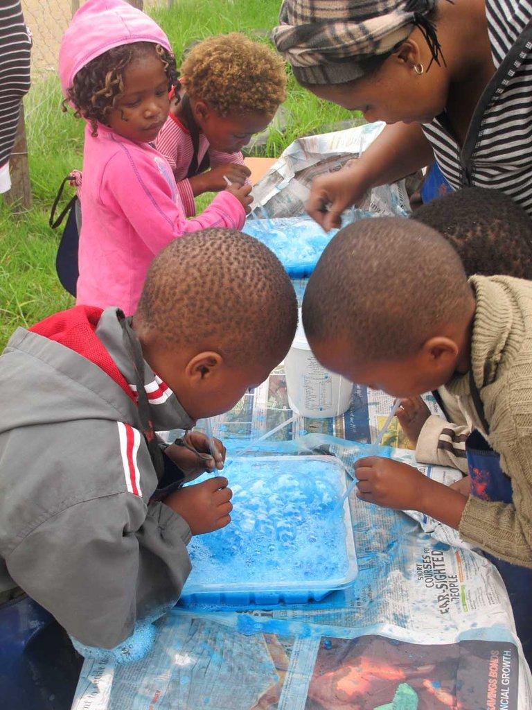 Feed & Teach 34 children age 0-4 in S/Afr village