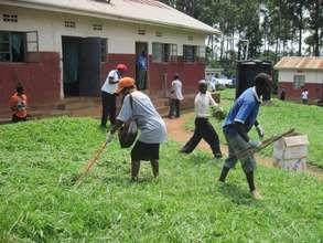 Hostel students Community work