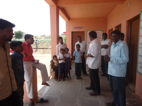 Speaking with community at primary school