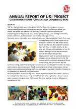 Annual Report of U&I project at the State MR Home (PDF)