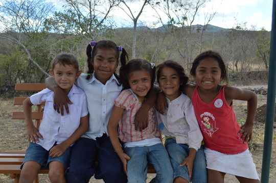 A group of Fabretto students at the La Cruz school