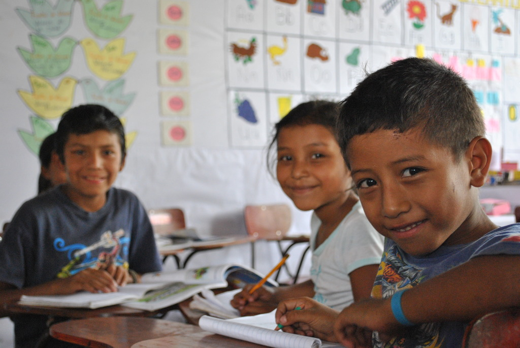 Primary students at the Cusmapa school.