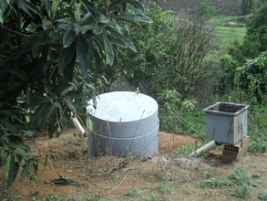 Biodigester with gas