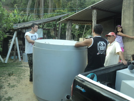 Delivering a biodigester