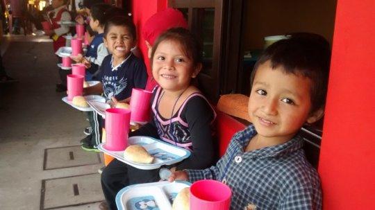 Snack time at Los Patojos