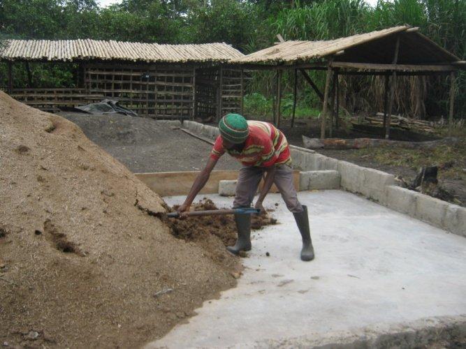 Composting floor