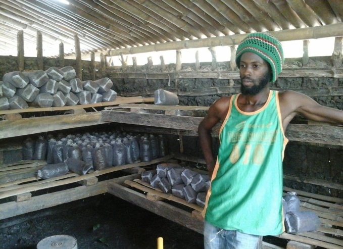 Abass inside the incubation house