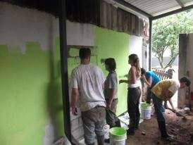 Volunteers Painting the New Workshop
