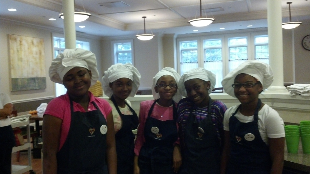 Dixon students are excited to start cooking!