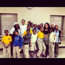 Chef Sean from NoMi with the Bradwell Students
