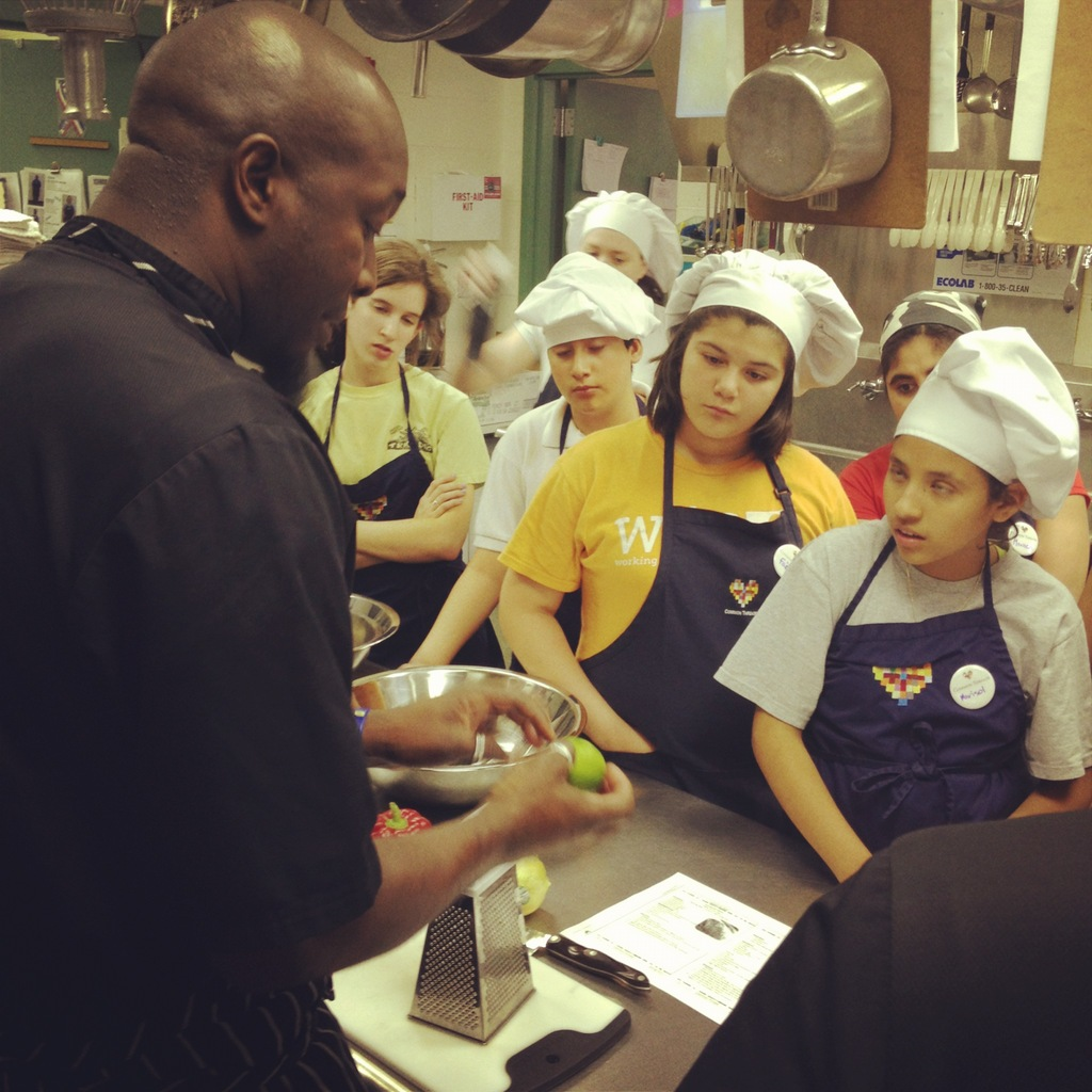 Chef Trevor Hoyte instructs students in Chicago