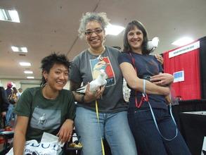 Volunteers JJ, Janelle & Clare saving lives
