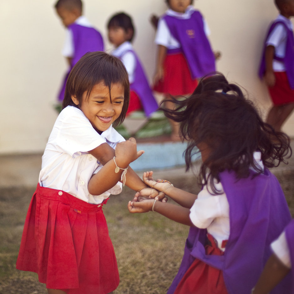 Children playing at a Child Development Center.