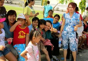 Childrens' Day in Klong Toey, Bangkok.