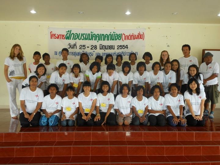 Volunteers at a Step Ahead English Youth Camp.