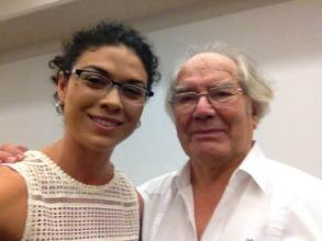 ED Andrea Herrera and Nobel Laureate Adolfo Perez