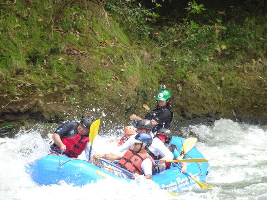 President Solis Rafts Savegre (Tico Times)