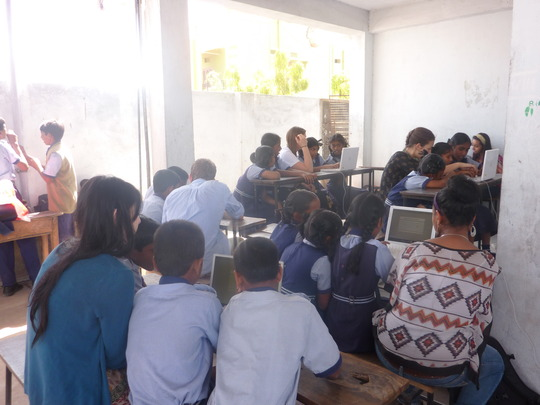 Setup 175 computers-5 schools-3000 students India