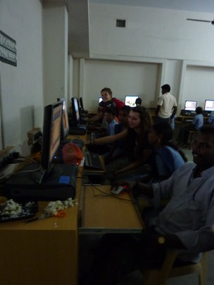 TSC Students Teaching in Lab in India in 2010