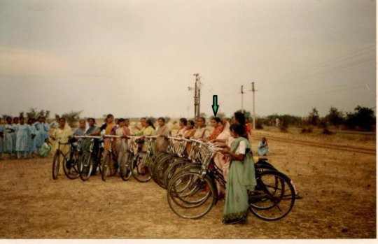 Mangala at cycle learning camp for village women