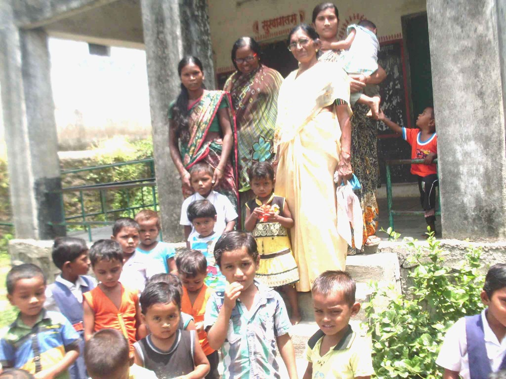 Villagers now entrusting their children with Baby.