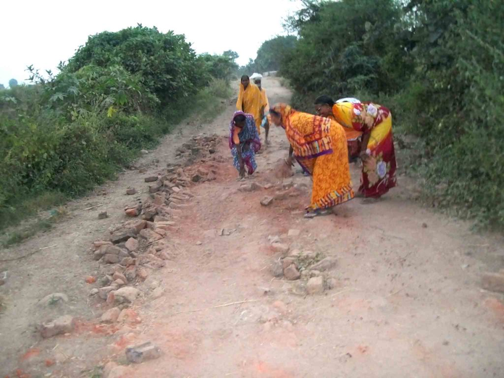 Contribution of labour for the approach road.