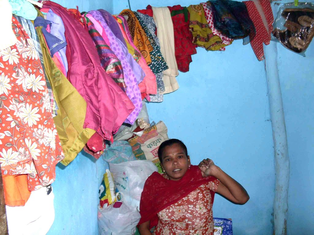 View of all the clothes stitched by Vandana