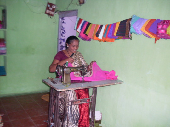 On the sewing machine for economic self reliance