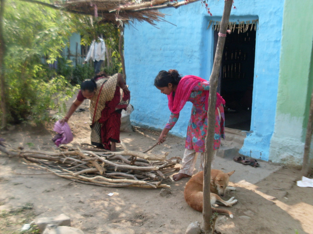 Daughters who study also help in household chores