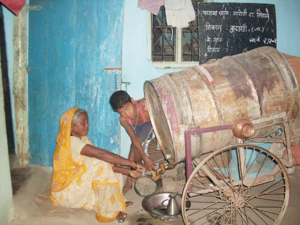 Selling Kerosene fuel from home to villagers