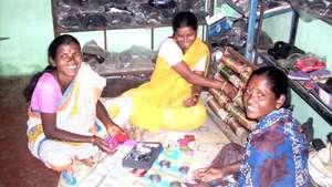 Nita Chore (in yellow saree) from village Manikwad