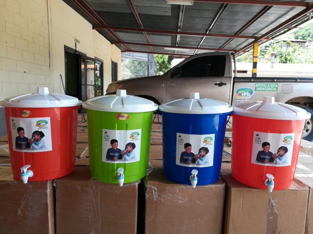 Clay water filters ready for local families