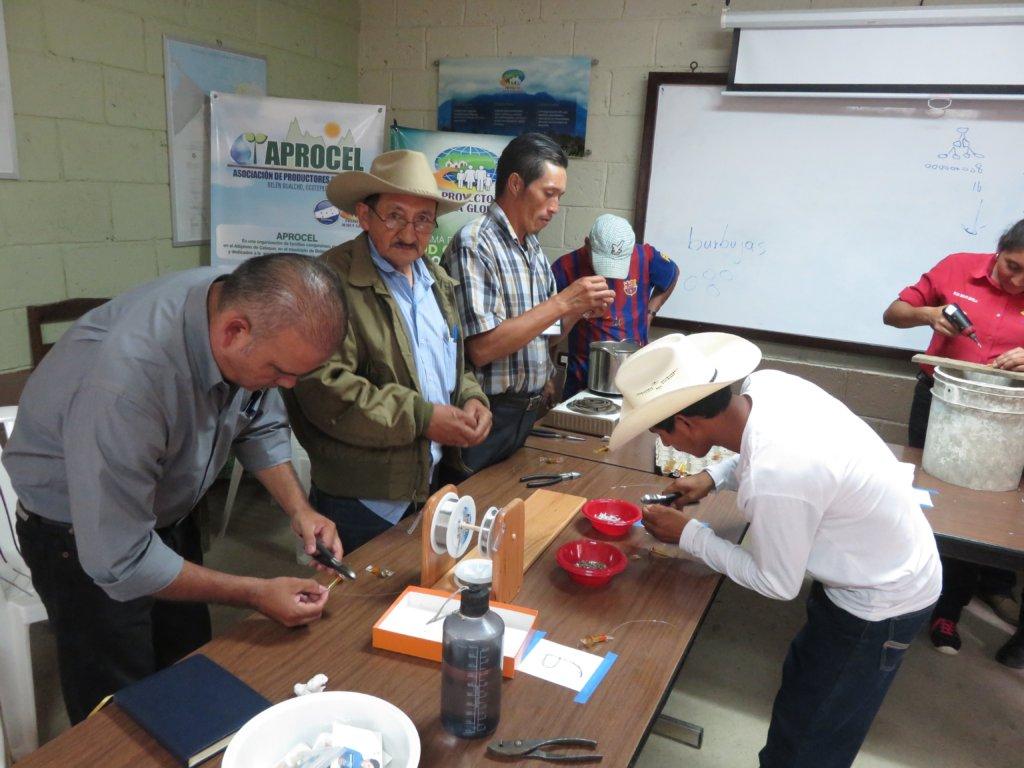 Community Members Learning to Make WAPI