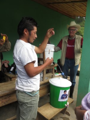 Guillermo Explaining about Water Pasteurization