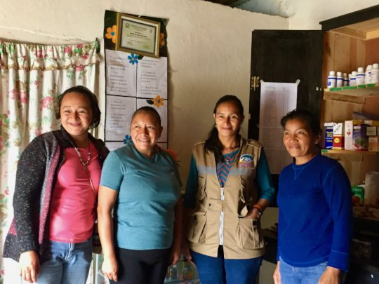 Anna Maria and friends at her community pharmacy
