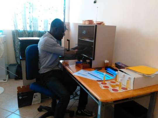 At work in the laboratory