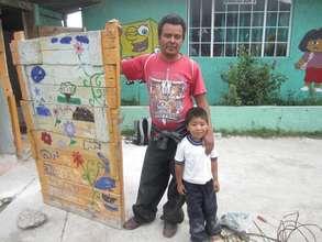 rebuilding the school latrine