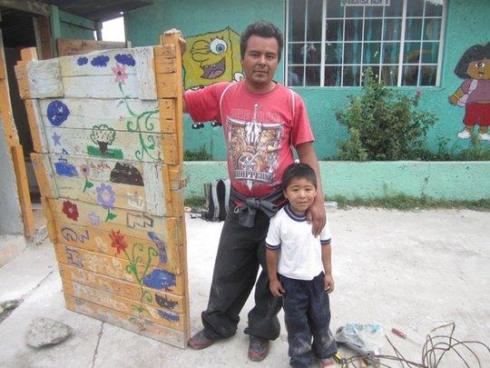 Repairing The School Latrine at Tultitlan